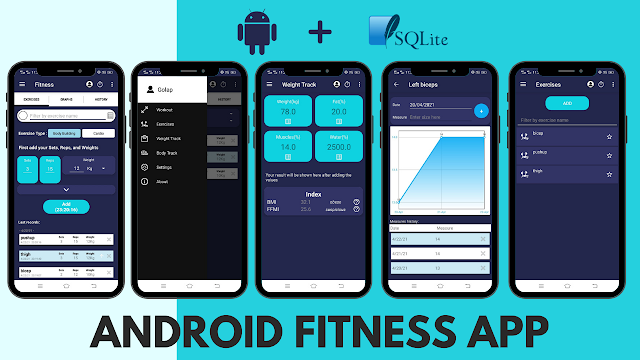 Android Fitness App using SQLite Database
