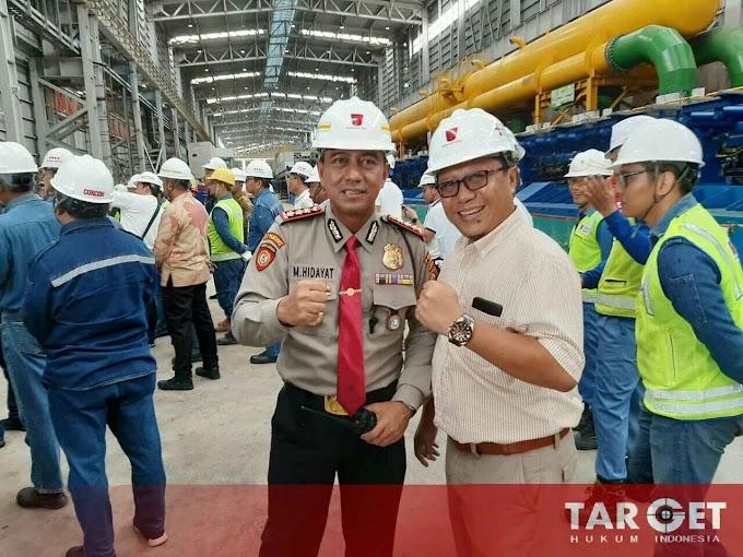 Dit Pamobvit Polda Banten Melaksanakan Pengamanan Kunjungan Kerja Wakil Kementrian BUMN di Cilegon