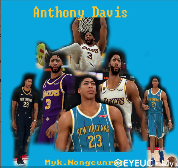 Anthony Davis Cyberface, Hair and Body Model Mega Pack 5 Versions By Myk [FOR 2K21]