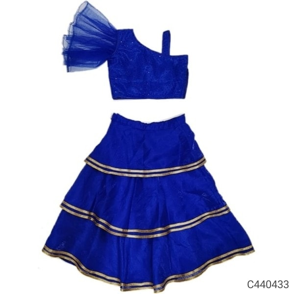 irls Solid Crop Top & Skirt Set Sku-Crop Top & Skirt
