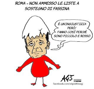 fassina, liste, elezioni roma, satira, vignetta