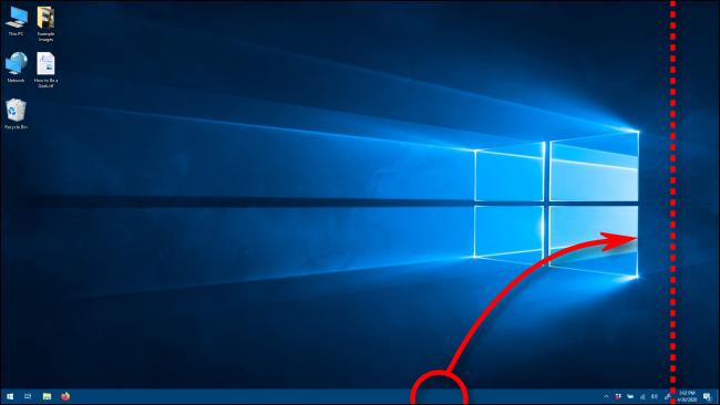 انقل شريط المهام إلى اتجاه عمودي عن طريق سحبه في Windows 10