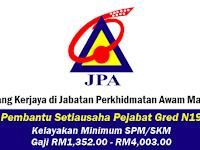 Jawatan Kosong di Jabatan Perkhidmatan Awam Malaysia (JPA)