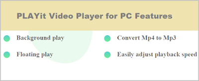 PLAYit Video Player pc features