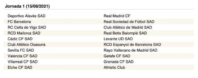 Matchday 1 La Liga