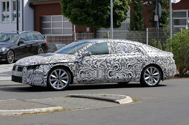 2017 Volkswagen CC coupe spotted new design side spy shoot