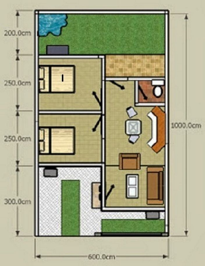 denah lokasi rumah minimalis yang terbaru