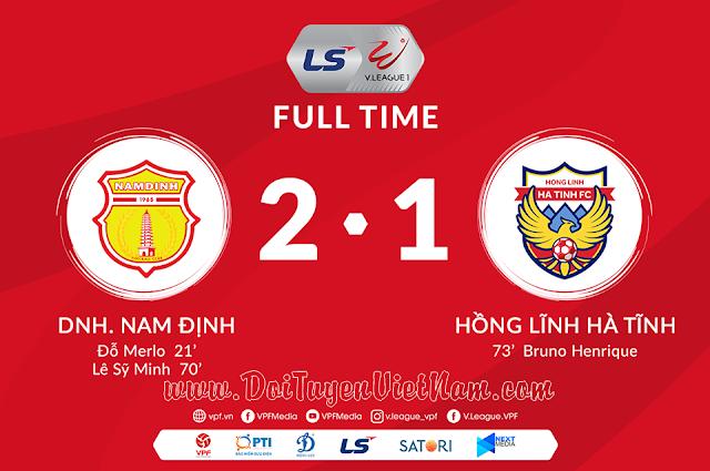 V.League 2020: Đỗ Melo và Sỹ Minh cùng lập công giúp DNH Nam Định đánh bại Hồng Lĩnh Hà Tĩnh