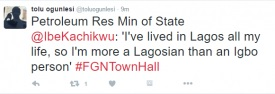 MINISTER OF PETROLEUM IBE KACHIKWU DENIES IGBO ROOTS, CLAIMS A LAGOSIAN