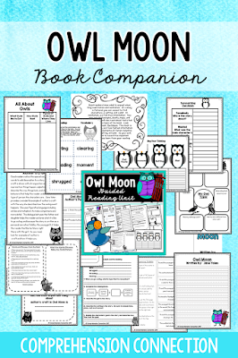 If you need a descriptive writing mentor text, Owl Moon is one to add to your list. This book companion includes comprehension work as well as materials for writing. Owl Moon is a classic for all readers.