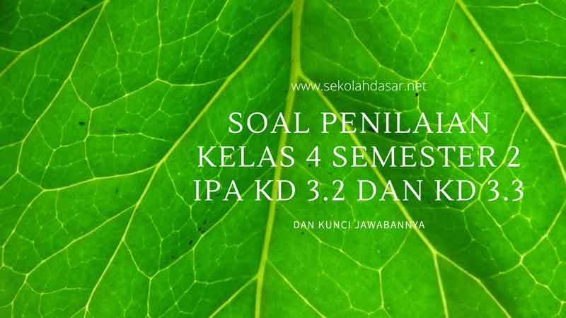 Soal Penilaian Kelas 4 Semester 2 IPA KD 3.2 dan KD 3.3