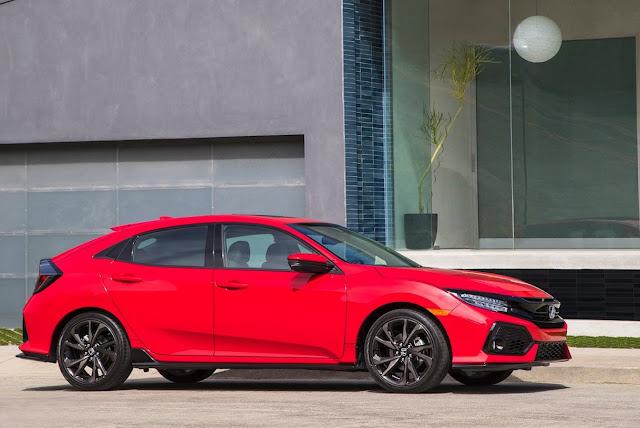 2017 Honda Civic hatchback red