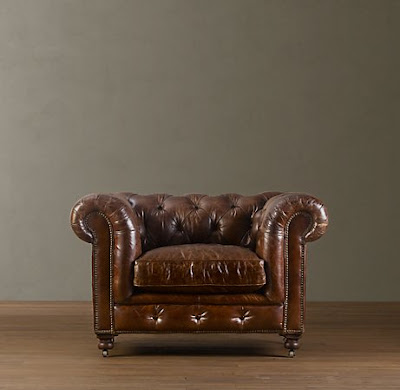Restoration Hardwareu0027s Kensington Leather Chair