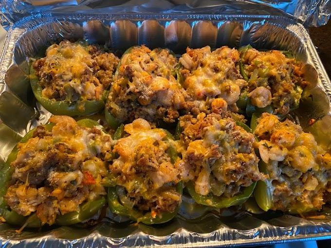 Cajun Seafood Stuffed Peppers