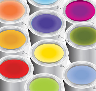 COLORS IN PAINT TINS