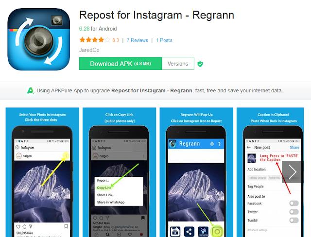 aplikasi repost instagram di pc