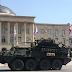Американские БТР Stryker и другая военная техника прошли маршем от Поти до Вазиани, заехав на родину Сталина