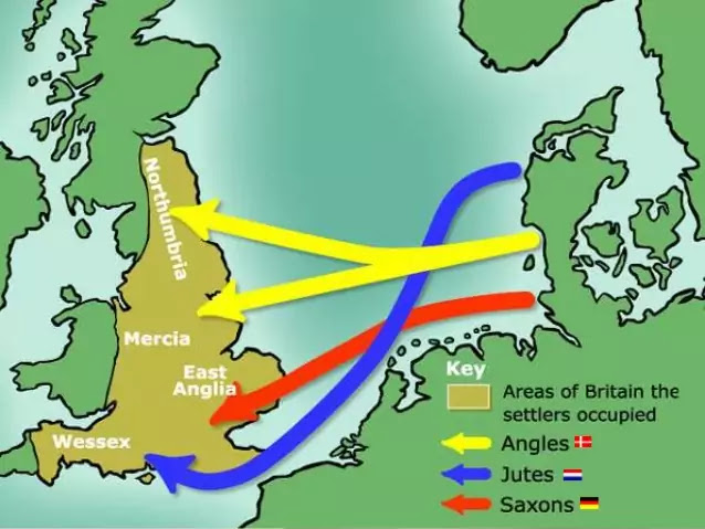 Origin of English, Map