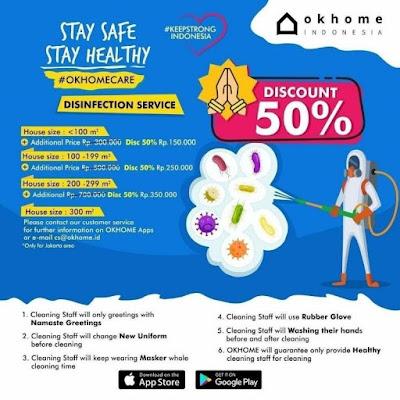 OKHOME Layanan Bersih Rumah Praktis Untuk Ibu - Ibu Rumah Tangga