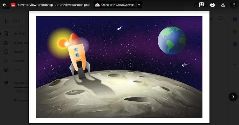 كيفية عرض ملفات Photoshop معاينة Google Drive