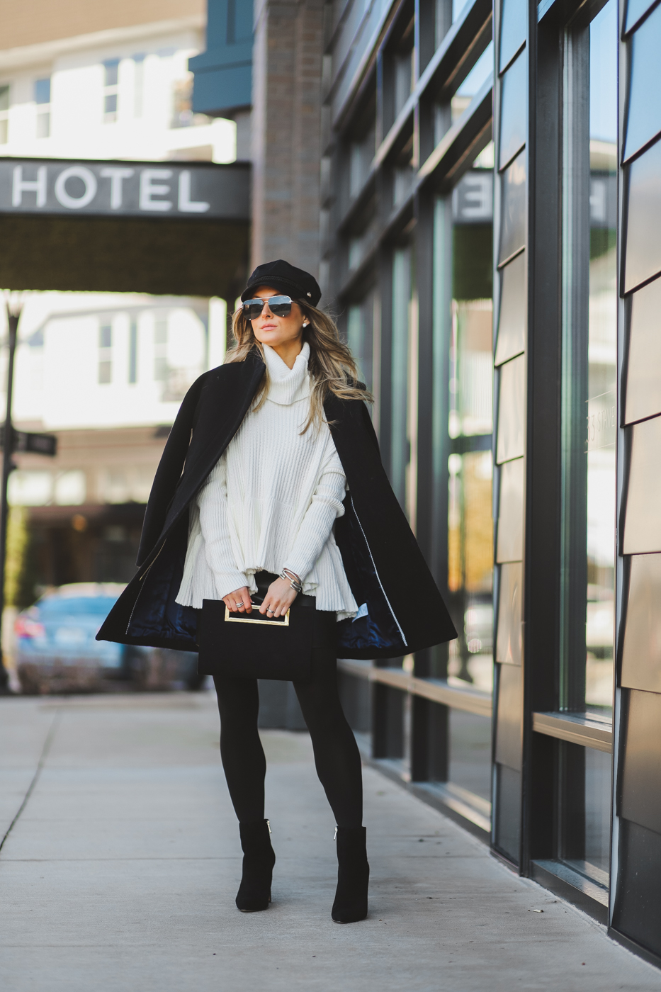 jcrew black wool cocoon coat