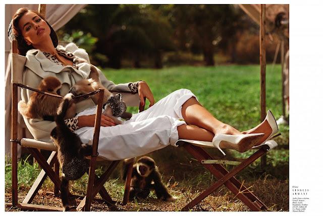 Harper's Bazaar - jonge wilde dieren - Irina Shayk