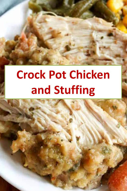 Crock Pot Chicken and Stuffing #CrockPotChickenandStuffing #CrockPot #Chicken #Stuffing