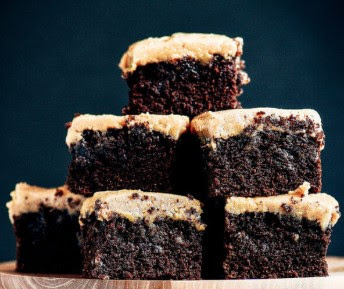 Delicious Coconut Flour Brownies and Peanut Butter Frosting