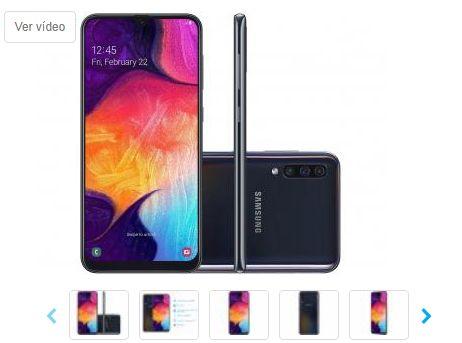Smartphone Samsung Galaxy A50 64GB Preto 4G