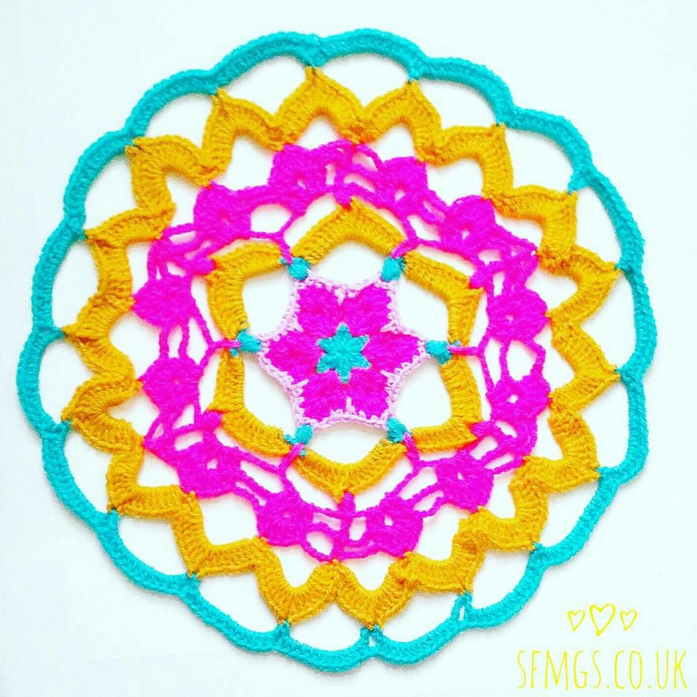 african flower crochet mandala pattern free