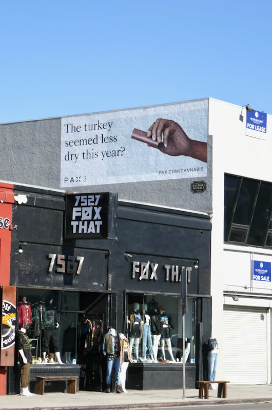 turkey less dry Pax 3 billboard