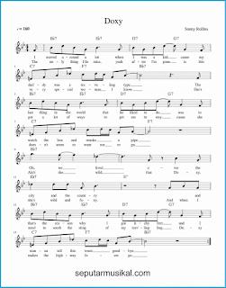 chord doxy lagu jazz standar