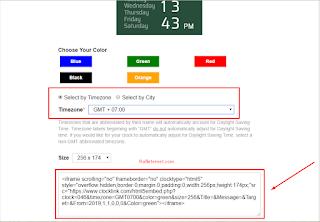 Cara menambahkan widget jam digital / analog di blogspot dan wordpress