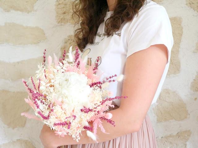 Un bouquet de fleurs séchées de chez Flowrette.