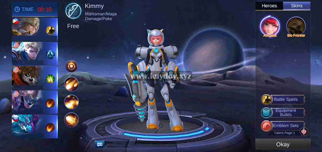 Download Script Skin Epic Kimmy Astrocat Mobile Legends