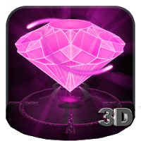 Pink Diamond Love 3D Theme Apk free Download for Android