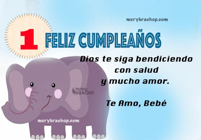 imagen con elefante frases de cumpleaños para bebe un año imagen por mery bracho