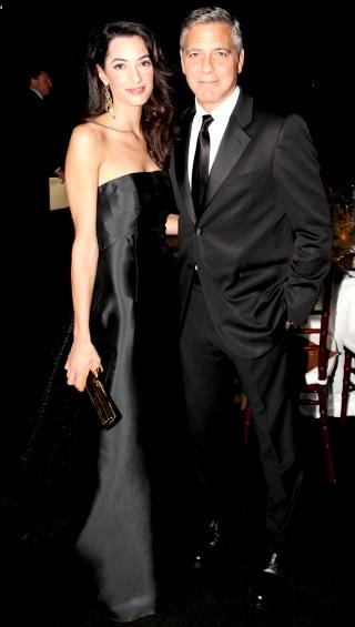 Foto de George Clooney con traje de gala de Amal Ramzi