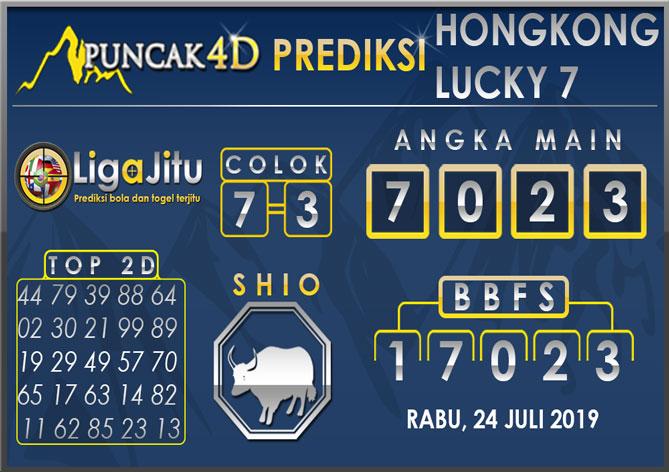 PREDIKSI TOGEL HONGKONG LUCKY7 PUNCAK4D 24 JULI 2019