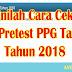 Cara Cek Hasil Pretest PPG Tahap 2 tahun 2018