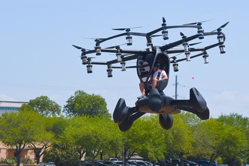 The US Air Force tests its first flying vehicle
