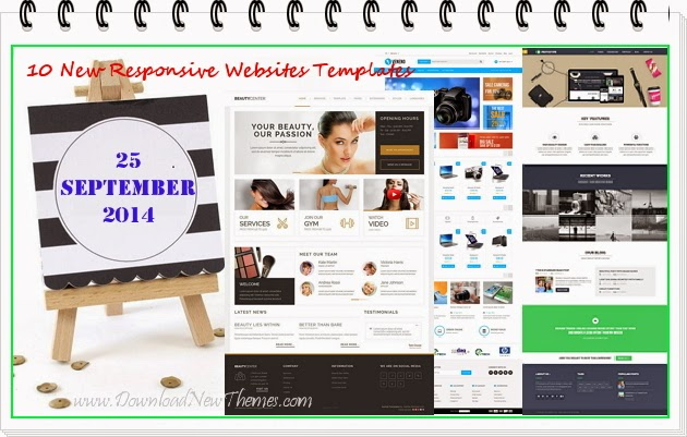 10 New Premium Responsive Websites Templates