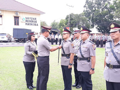 Kapolres Labuhanbatu AKBP Agus Darojat SIK, MH Pimpin Sertijab Dua Kabag dan Dua Kapolsek
