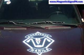 Custom-Shaped Vehicle Magnet - Handlebar Manila