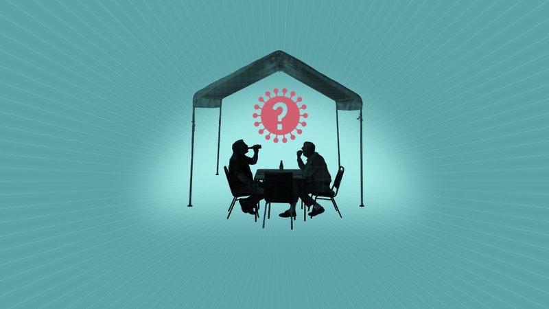 Yemek çadırları dışarıda yemek yemenin güvenli bir yolu olabilir mi?