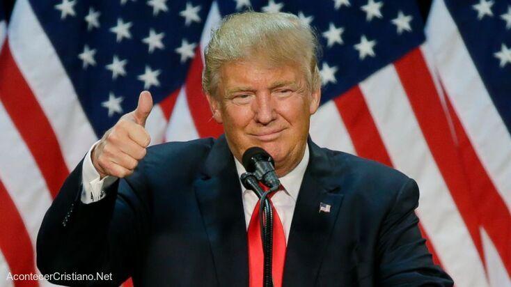 Donald Trump menciona a Dios en discurso