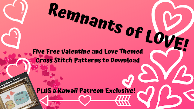 Five New Free Valentine and Love Themed Cross Stitch Patterns to Download