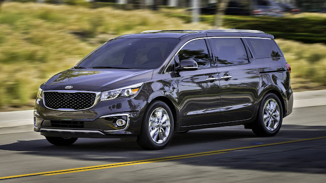 All New Kia Sedona SX Limited 2016 car used side view