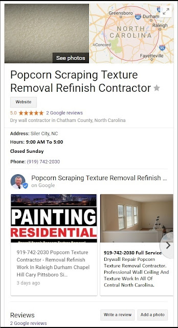 Chatham Drywall: Five Star Google Review Drywall Installation, Repair, Finishing, Popcorn Texture Removal