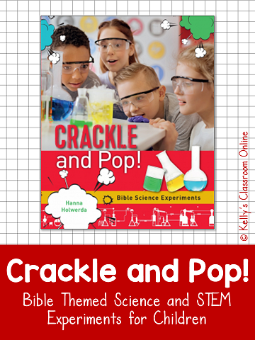 Crackle and Pop: Bible Science Experiments by Hanna Holwerda integrates STEM activities with Bible Stories. Post includes a sink and float experiment.